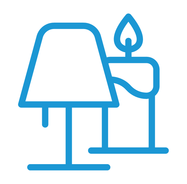 Kaarsen & lampen